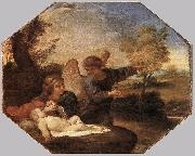 Andrea Sacchi Hagar and Ishmael in the Wilderness oil